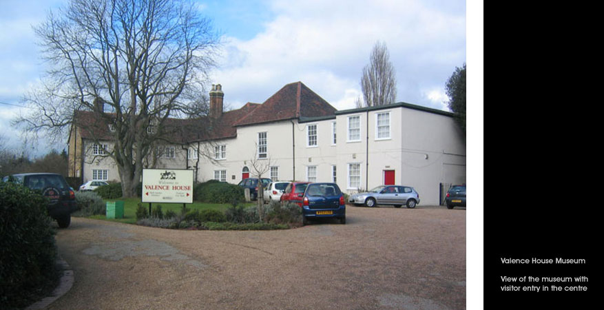 Front View of Valence House Museum
